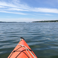 Kayak and Castine Harbor, Castine, Maine, US