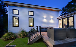 3553 Nelly Curtis Modern home exterior twilight