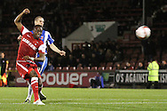 Picture by David Horn/Focus Images Ltd +44 7545 970036.16/10/2012.Moses Odubajo of Leyton Orient shoots during the npower League 1 match at the Matchroom Stadium, London.