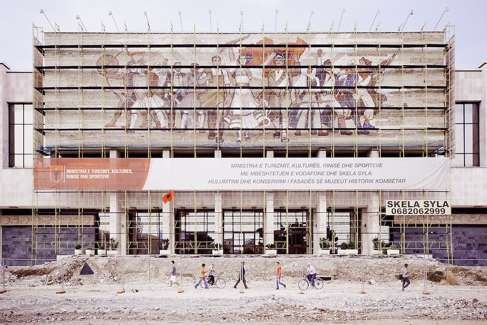 Tirana - The city is renewing itself without denying the socialist past visible in civic architecture. National Historical Museum - Kombëtar (1981).