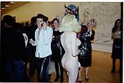 Amanda Lapour. Azzadine Alaia installation. 575 Broadway. NY. 22 September 2000. © Copyright Photograph by Dafydd Jones 66 Stockwell Park Rd. London SW9 0DA Tel 020 7733 0108 www.dafjones.com