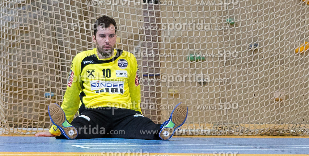 22.10.2016, Sporthalle Leoben Donawitz, Leoben, AUT, HLA, Union JURI Leoben vs HC Linz AG, 9. Runde, im Bild Luka Marinovic (Leoben) // during the Handball League Austria, 9 th round match between Union JURI Leoben vs HC Linz AG at the sport Hall, Leoben, Austria on 2016/10/22, EXPA Pictures © 2016, PhotoCredit: EXPA/ Dominik Angerer