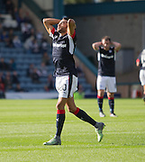 Dundee&rsquo;s Faissal El Bakhtaoui reacts after his injury time effort went narrowly wide - Dundee v Kilmarnock in the Ladbrokes Scottish Premiership at Dens Park, Dundee. Photo: David Young<br /> <br />  - &copy; David Young - www.davidyoungphoto.co.uk - email: davidyoungphoto@gmail.com