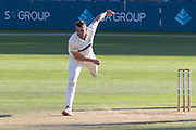 Lukas Carey bowling during the Specsavers County Champ Div 2 match between Glamorgan County Cricket Club and Leicestershire County Cricket Club at the SWALEC Stadium, Cardiff, United Kingdom on 18 September 2019.