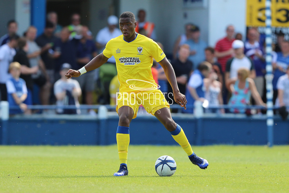 AFC Wimbledon defender Paul Kalambayi during the Pre-Season Friendly match between Margate and AFC Wimbledon at Hartsdown Park, Margate, United Kingdom on 16 July 2016. Photo by Stuart Butcher.