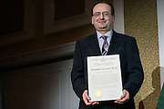 Dr.  Alexander Govorov receieves the 2017 Distinguished Professor Award at Ohio University's Baker Center Ballroom on Monday, February 20, 2017.