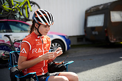 Katherine Maine (CAN) before Ladies Tour of Norway 2019 - Stage 2, a 131 km road race from Mysen to Askim, Norway on August 23, 2019. Photo by Sean Robinson/velofocus.com