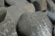 northern India, Buddhist Mantra escribed on rocks