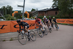 Chantal Blaak (NED) of Boels-Dolmans Cycling Team reaches the top of a short climb in the penultimate short lap of the Crescent Vargarda - a 152 km road race, starting and finishing in Vargarda on August 13, 2017, in Vastra Gotaland, Sweden. (Photo by Balint Hamvas/Velofocus.com)