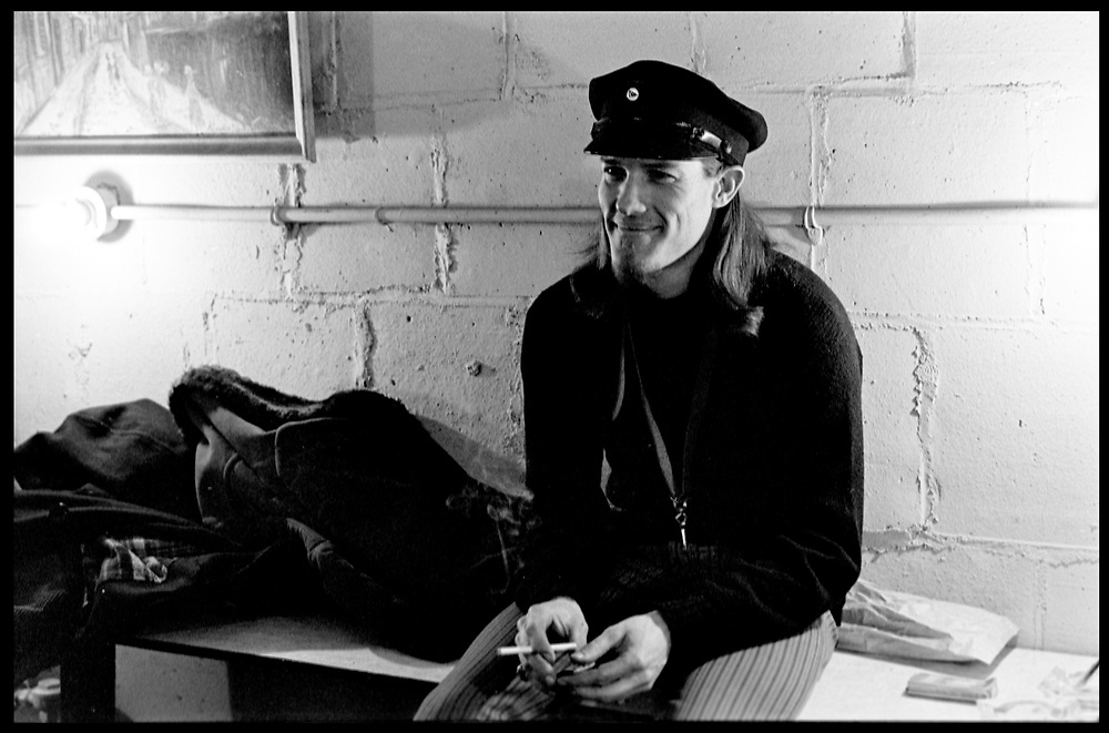 "Fall River, Masaschusetts - 18 February 1968. Jim ""Motorhead"" Sherman of The Mothers of Invention prior to a performance. © 2020 Ed Lefkowicz<br />
