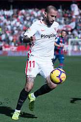 January 26, 2019 - Sevilla, Andalucia, Spain - Aleix Vidal of Sevilla FC during the La Liga match between Sevilla FC v Levante UD at the Ramon Sanchez Pizjuan Stadium on January 26, 2019 in Sevilla, Spain  (Credit Image: © Javier MontañO/Pacific Press via ZUMA Wire)
