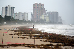 Fort Lauderdale Beach as Hurricane Irma pushes into South Florida on Saturday, September 9, 2017, in Fort Lauderdale, FL, USA. Photo by Amy Beth Bennett/Sun Sentinel/TNS/ABACAPRESS.COM