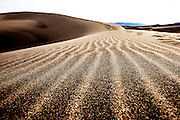 Designs and patterns in the sand in Death Valley National Park in California's desert