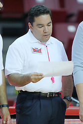 13 October 2011: NCAA Volleyball referee Felix Madera during an NCAA volleyball match between the Indiana State Sycamores and the Illinois State Redbirds at Redbird Arena in Normal Illinois.