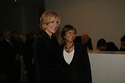 Louise T Blouin MacBain and Tessa Jowell, THE LOUISE T BLOUIN INSTITUTE OPENS WITH INAUGURAL EXHIBITION: James Turrell: A Life in Light Exhibition. OLAF ST. LONDON. 12 OCTOBER 2006.  -DO NOT ARCHIVE-© Copyright Photograph by Dafydd Jones 66 Stockwell Park Rd. London SW9 0DA Tel 020 7733 0108 www.dafjones.com