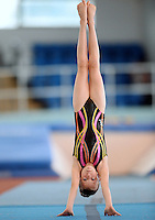 20 Aug 2016:  Nicola Brennan, from Roscommon, performs in the U9 Gymnastics.   2016 Community Games National Festival 2016.  Athlone Institute of Technology, Athlone, Co. Westmeath. Picture: Caroline Quinn