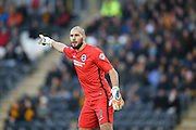 Brighton goalkeeper, Niki Maenpaa (1) during the The FA Cup match between Hull City and Brighton and Hove Albion at the KC Stadium, Kingston upon Hull, England on 9 January 2016.