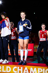 20-10-2018 JPN: Ceremony World Championship Volleyball Women day 21, Yokohama<br /> Best setter Ofelia Malinov #5 of Italy