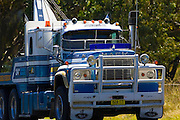 Tow-truck on the Great Western Highway from Sydney to Adelaide, New South Wales, Australia