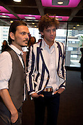 MATTHEW WILLIAMSON AND MIKA, The private view of exhibition 'The House of Viktor & Rolf', at The Barbican Gallery.  London.  June 17 2008. *** Local Caption *** -DO NOT ARCHIVE-© Copyright Photograph by Dafydd Jones. 248 Clapham Rd. London SW9 0PZ. Tel 0207 820 0771. www.dafjones.com.