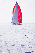 Bliss sailing in the St. Barth's Bucket Regatta, day three.