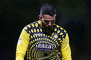 GOAL 2-2 Wycombe Wanderers goalkeeper Stephen Henderson (28) looks dejected after conceding the equaliser, Sky Bet, during the EFL Sky Bet League 1 match between Gillingham and Wycombe Wanderers at the MEMS Priestfield Stadium, Gillingham, England on 15 December 2018.