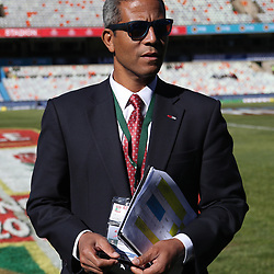 Jeremy Guscott rugby commentator during the 2018 Castle Lager Incoming Series 2nd Test match between South Africa and England at the Toyota Stadium.Bloemfontein,South Africa. 16,06,2018 Photo by (Steve Haag JMP)