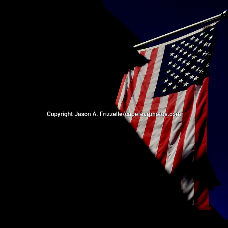 An American flag is pictured at a home November 10, 2019 in Wilmington, N.C. (Jason A. Frizzelle/Cape Fear Photos