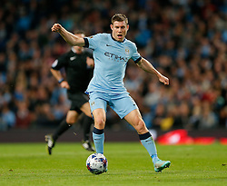 James Milner of Manchester City in action - Photo mandatory by-line: Rogan Thomson/JMP - 07966 386802 - 24/08/2014 - SPORT - FOOTBALL - Manchester, England - Etihad Stadium - Manchester City v Sheffield Wednesday - Capital One Cup, Third Round.
