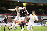 Dundee's Marcus Haber and Partick Thistle&rsquo;s Daniel Devine - Dundee v Partick Thistle in the Ladbrokes Scottish Premiership at Dens Park, Dundee. Photo: David Young<br /> <br />  - &copy; David Young - www.davidyoungphoto.co.uk - email: davidyoungphoto@gmail.com