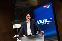 "20.03.2019, Radio Kulturhaus, Wien, AUT, Ö1, Sendung ""Klartext"" zur Europawahl 2019, im Bild Moderator Klaus Webhofer // during political discussion of the Austrian Broadcasting Corporation according to EU elections 2019 in Vienna, Austria on 2019/03/20, EXPA Pictures © 2019, PhotoCredit: EXPA/ Michael Gruber"
