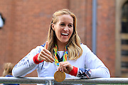 Helen Glover during the Manchester Olympic Parade in Manchester, United Kingdom on 17 October 2016. Photo by Richard Holmes.