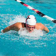 16 November 2017: The San Diego State women's swim team competes in the 2017 A3 Performance Invitational held at the SDSU Aquaplex. SDSU junior Rachael Kelch competes in the 200 yard IM.<br /> www.sdsuaztecphotos.com