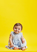 Portrait of a baby girl. <br />