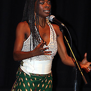 "Concha Buika during her concert at Boston Museum of fine art. <br /> <br /> The ""Flamenco Queen,"" Buika is the daughter of a political refugees from the African nation of Equatorial Guinea and grew up in a gypsy neighborhood on the Spanish island of Mallorca"