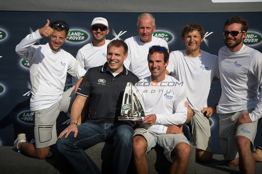 2015 Extreme Sailing Series - Act 5 - Hamburg.<br /> Prize Ceremony at the Extreme Sailing Series 2015, act 5 Hamburg.<br /> Credit Jesus Renedo.