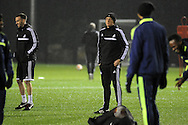 Manager Garry Monk during Swansea city FC team training in Landore, Swansea, South Wales on Wed 19th Feb 2014. the team are training ahead of tomorrow's UEFA Europa league match against Napoli.<br /> pic by Phil Rees, Andrew Orchard sports photography.