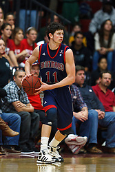 Jan 21, 2012; Santa Clara CA, USA; St. Mary's Gaels forward Clint Steindl (11) holds the ball against the Santa Clara Broncos during the first half at the Leavey Center.  St. Mary's defeated Santa Clara 93-77. Mandatory Credit: Jason O. Watson-US PRESSWIRE