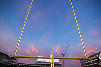 FAYETTEVILLE, AR - NOVEMBER 24:  Field goals with ball going through it for a field goal during a game between the Missouri Tigers and the Arkansas Razorbacks at Razorback Stadium on November 24, 2017 in Fayetteville, Arkansas.  The Tigers defeated the Razorbacks 48-45.  (Photo by Wesley Hitt/Getty Images) *** Local Caption ***