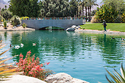 The Fisherman Sculpture at Palm Desert Civic Center Park
