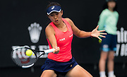 Shuai Zhang of China in action during her second round match at the 2020 Australian Open, WTA Grand Slam tennis tournament on January 22, 2020 at Melbourne Park in Melbourne, Australia - Photo Rob Prange / Spain ProSportsImages / DPPI / ProSportsImages / DPPI