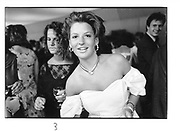 Tanya Foster-Brown. London deb party. 1984 approx. © Copyright Photograph by Dafydd Jones 66 Stockwell Park Rd. London SW9 0DA Tel 020 7733 0108 www.dafjones.com