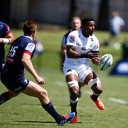 Sikhumbuzo Notshe of the Cell C Sharks during the super rugby match between the Melbourne Rebels and the Cell C Sharks at the  Mars Stadium,Ballarat,Western suburbs of Melbourne,Victoria, Australia, 22,020,2020 (Photo Steve Haag /HollywoodBets)