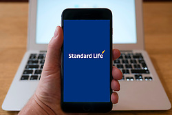 Standard Life insurance and fund management company logoon smart phone screen.