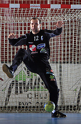 Goalkeeper Gorazd Skof at handball match of 5th Round of qualifications for EHF Euro 2010 in Austria between National team of Slovenia vs Bulgaria, on November 30, 2008 in Velenje, Slovenia. (Photo by Vid Ponikvar / Sportida)