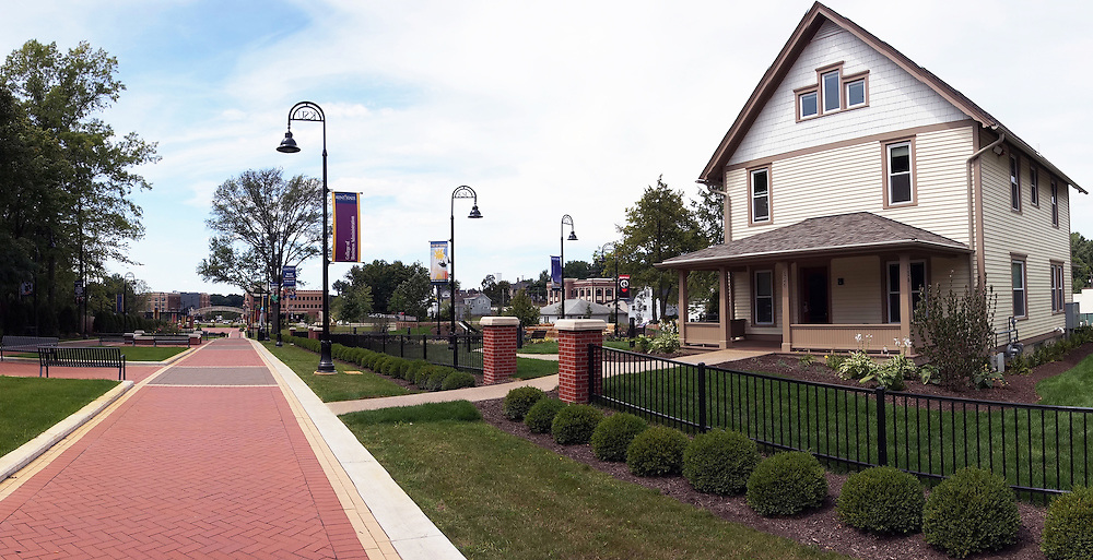 The Wick Poetry Center moved into its new home this year along the University Esplanade. The home once belonged to May Prentice, the first female professor at Kent State. The house was moved to it's current location to make way for the esplanade and the new architecture building.