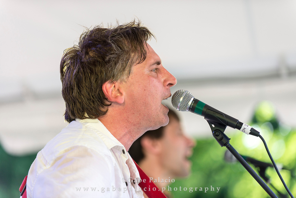 Joe Crookston, and Peter Glanville as the Bluebird Jubilee, perform on the Friends Field set of the American Roots Music Festival at Caramoor in Katonah New York on June 28, 2014. <br /> (photo by Gabe Palacio)