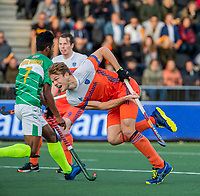 AMSTELVEEN - Jip Janssen (Ned)   tijdens  de tweede  Olympische kwalificatiewedstrijd hockey mannen ,  Nederland-Pakistan (6-1). Oranje plaatst zich voor de Olympische Spelen 2020.   COPYRIGHT KOEN SUYK