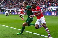 ALKMAAR - 01-04-2017, AZ - FC Groningen, AFAS Stadion, 0-0, FC Groningen speler Etienne Reijnen, AZ speler Fred Friday