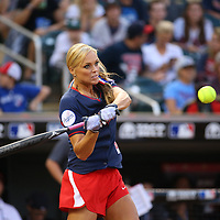 MINNEAPOLIS, MN - JULY 13:  Jennie Finch at the 2014 MLB All-Star legends and celebrity softball game on July 13, 2014 at the Target Field in Minneapolis, Minnesota.(Photo by Adam Bettcher/Getty Images) *** Local Caption ***  Jennie Finch